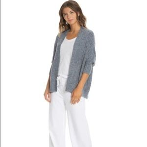 Barefoot Dreams Cozy Chic Lite Heathered Lavender Open Front Cardigan Size SM